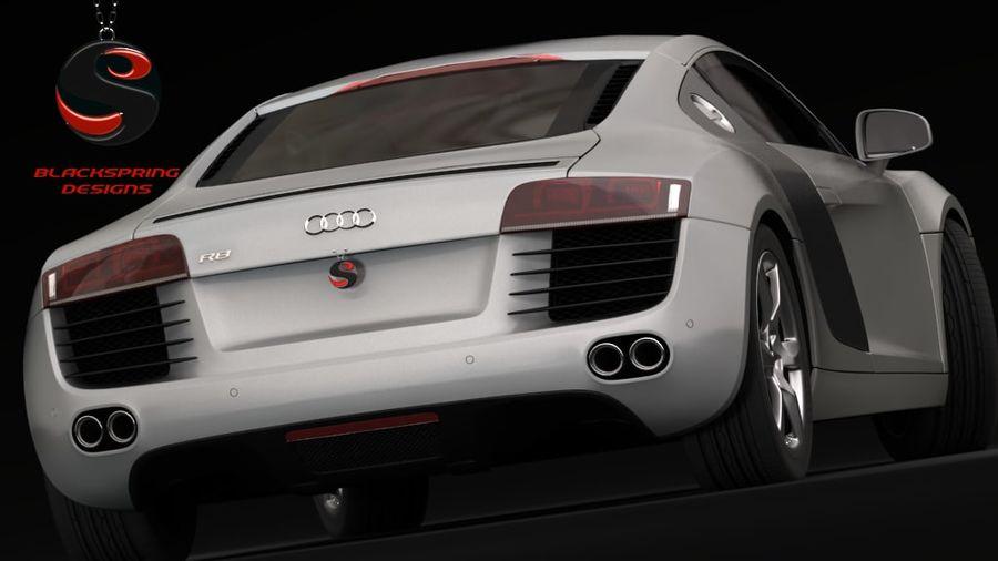 Audi R8 4.2 quattro 2007 royalty-free 3d model - Preview no. 4