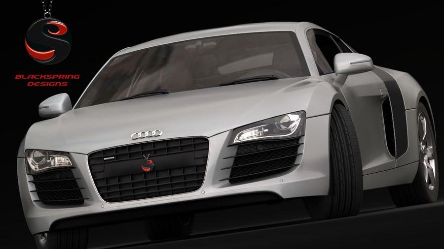 Audi R8 4.2 quattro 2007 royalty-free 3d model - Preview no. 2