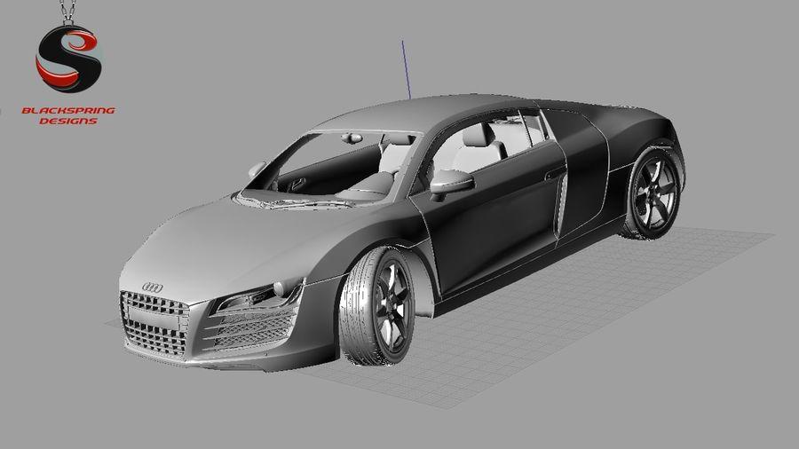 Audi R8 4.2 quattro 2007 royalty-free 3d model - Preview no. 8