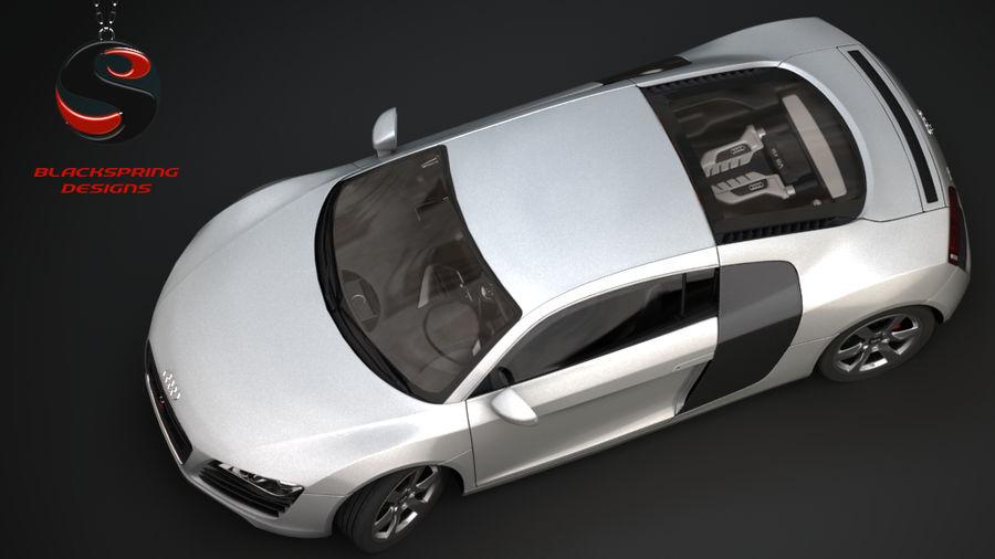 Audi R8 4.2 quattro 2007 royalty-free 3d model - Preview no. 5