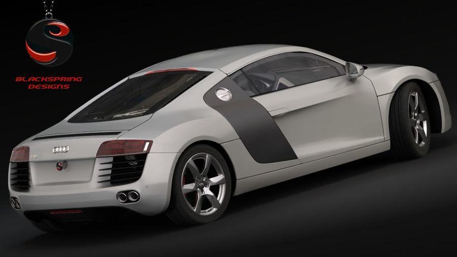 Audi R8 4.2 quattro 2007 royalty-free 3d model - Preview no. 3