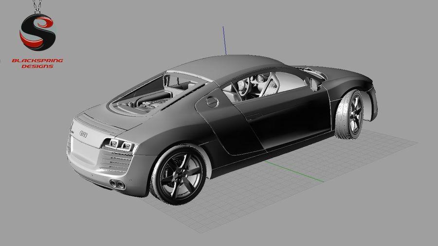 Audi R8 4.2 quattro 2007 royalty-free 3d model - Preview no. 9