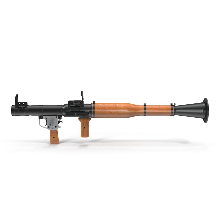 Portable Grenade Launcher RPG-7 3D 모델 royalty-free 3d model - Preview no. 3
