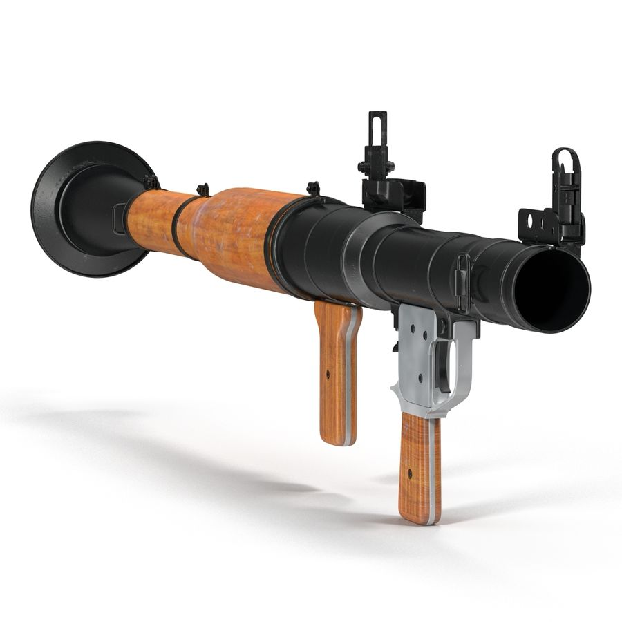 Portable Grenade Launcher RPG-7 3D 모델 royalty-free 3d model - Preview no. 4