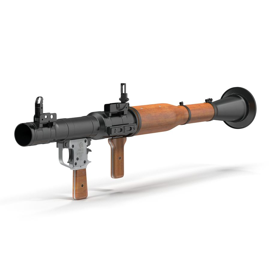 Portable Grenade Launcher RPG-7 3D 모델 royalty-free 3d model - Preview no. 2