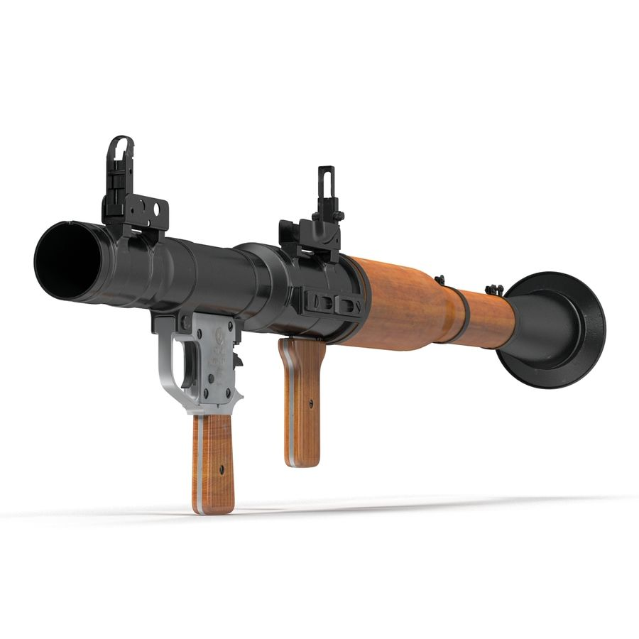 Portable Grenade Launcher RPG-7 3D 모델 royalty-free 3d model - Preview no. 8