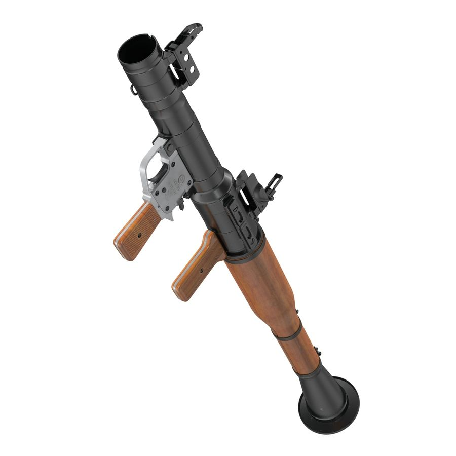 Portable Grenade Launcher RPG-7 3D 모델 royalty-free 3d model - Preview no. 12