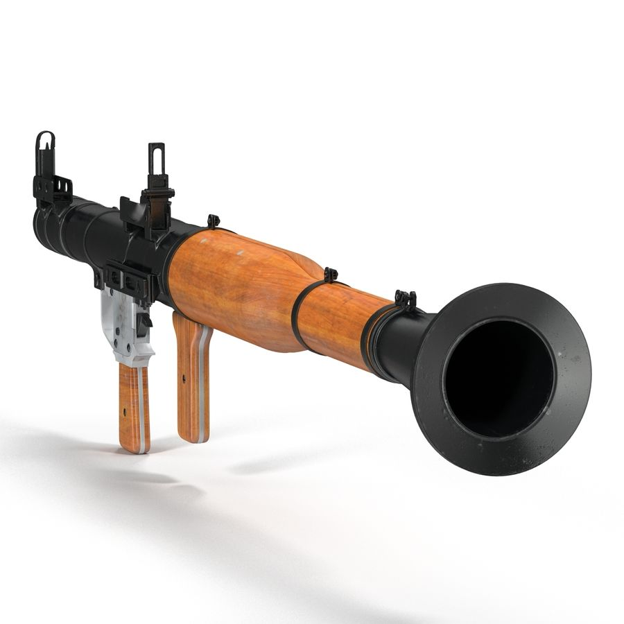 Portable Grenade Launcher RPG-7 3D 모델 royalty-free 3d model - Preview no. 7