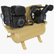 Piston Air Compressor 3D Model 3d model