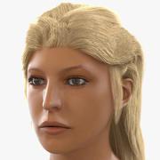 Female Mediterranean Head 3D Model 3d model