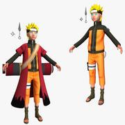 Maya için Dönüştürülmüş Naruto Shippuden 3d model