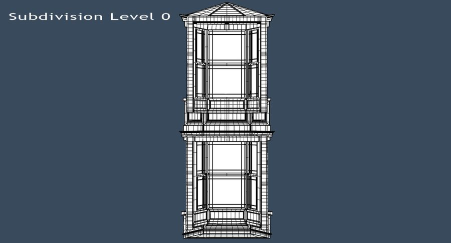 Victorian Bay Window royalty-free 3d model - Preview no. 26