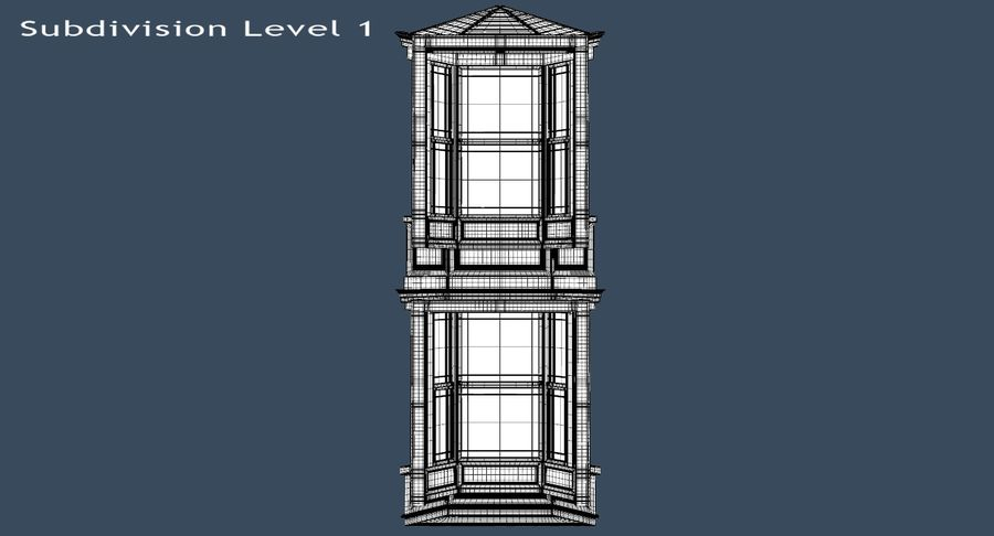 Victorian Bay Window royalty-free 3d model - Preview no. 27