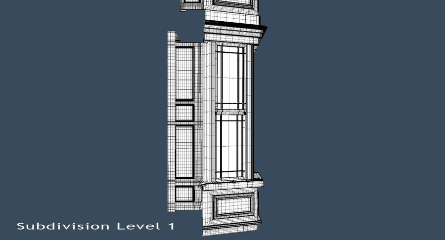 Victorian Bay Window royalty-free 3d model - Preview no. 24