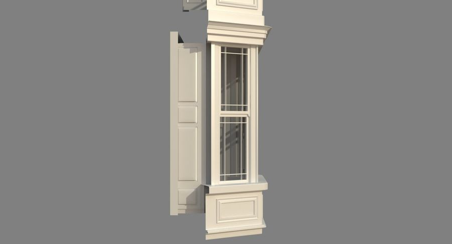 Victorian Bay Window royalty-free 3d model - Preview no. 22