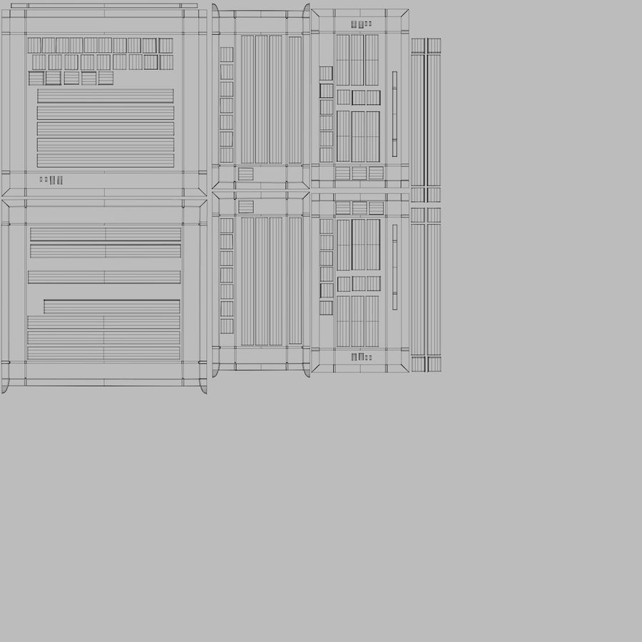 Victorian Bay Window royalty-free 3d model - Preview no. 41