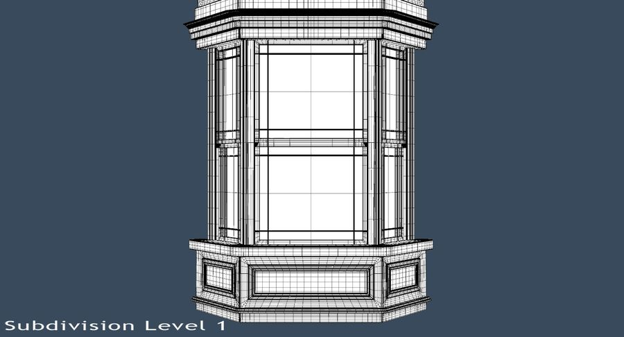 Victorian Bay Window royalty-free 3d model - Preview no. 18