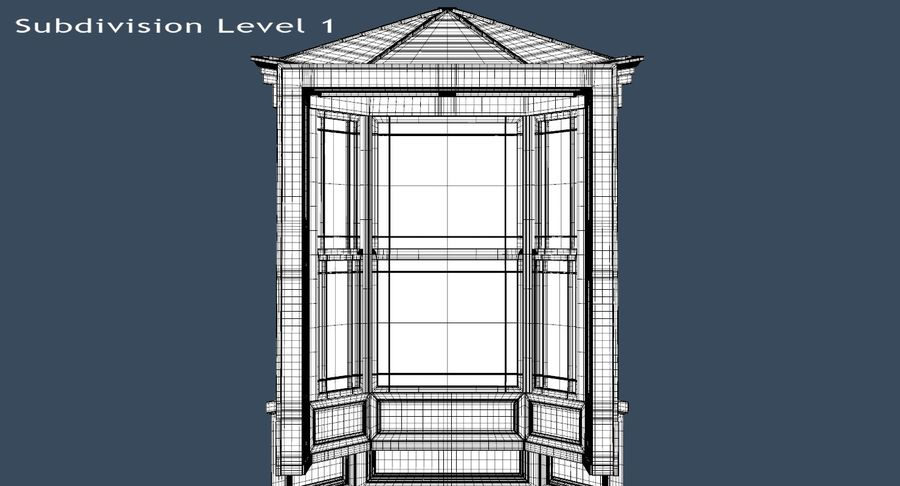 Victorian Bay Window royalty-free 3d model - Preview no. 30
