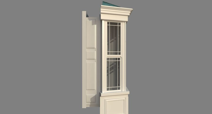 Victorian Bay Window royalty-free 3d model - Preview no. 19