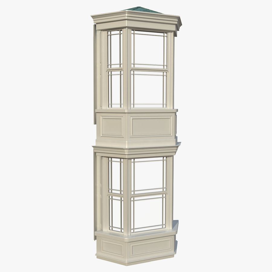 Victorian Bay Window royalty-free 3d model - Preview no. 1