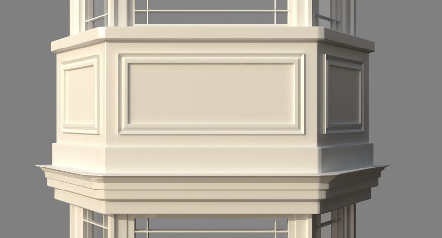 Victorian Bay Window royalty-free 3d model - Preview no. 13