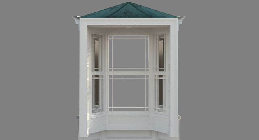 Victorian Bay Window royalty-free 3d model - Preview no. 28