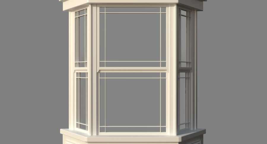 Victorian Bay Window royalty-free 3d model - Preview no. 10