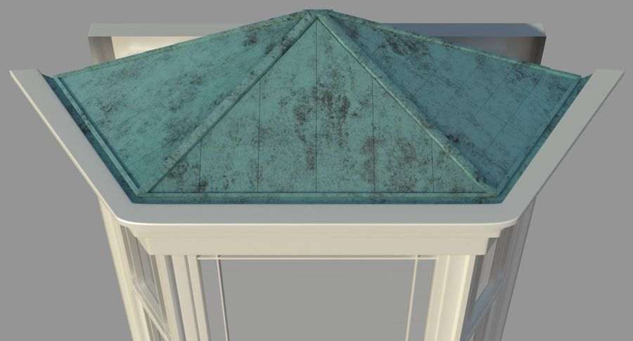 Victorian Bay Window royalty-free 3d model - Preview no. 4