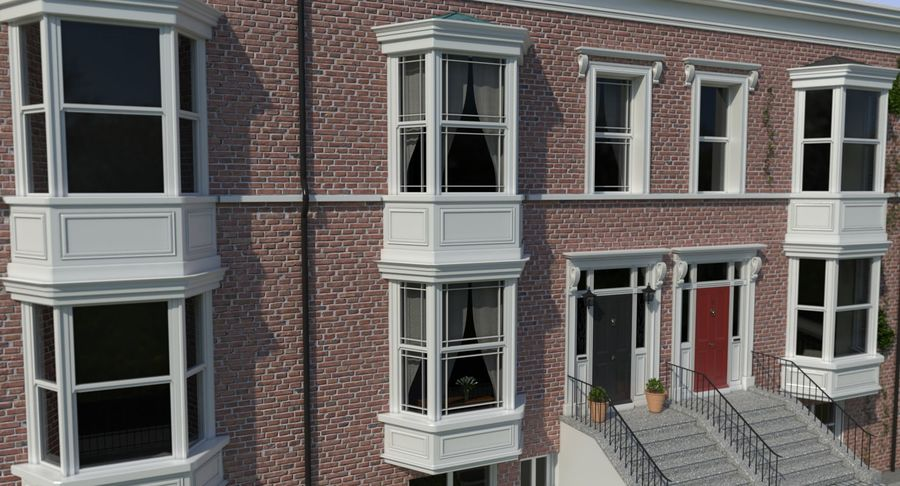Victorian Bay Window royalty-free 3d model - Preview no. 3