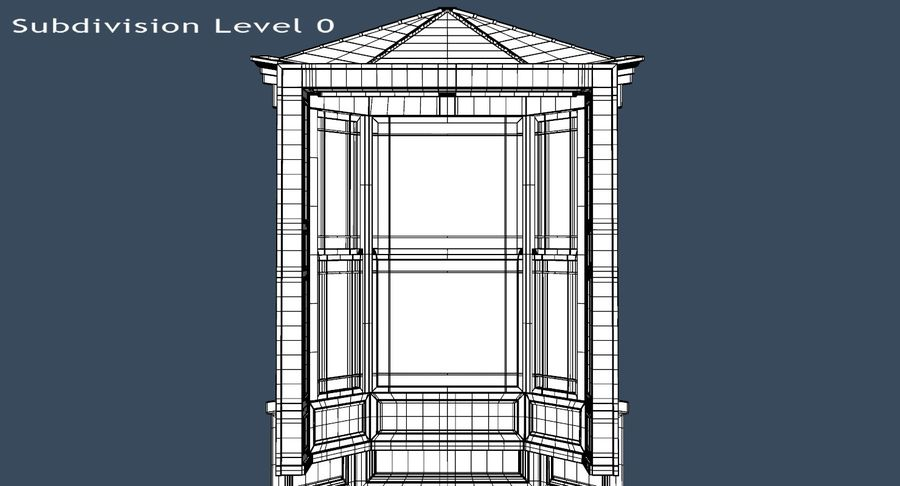 Victorian Bay Window royalty-free 3d model - Preview no. 29