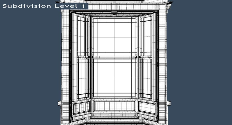 Victorian Bay Window royalty-free 3d model - Preview no. 33