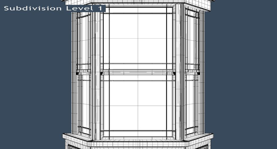 Victorian Bay Window royalty-free 3d model - Preview no. 12