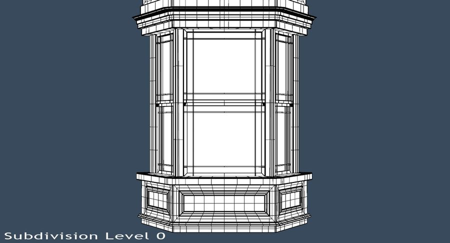 Victorian Bay Window royalty-free 3d model - Preview no. 17