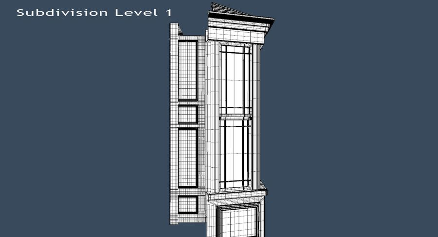 Victorian Bay Window royalty-free 3d model - Preview no. 21