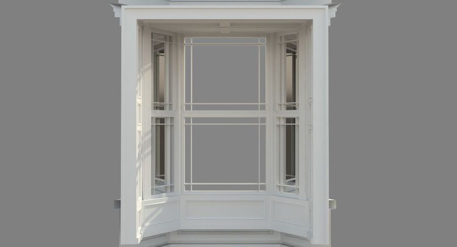 Victorian Bay Window royalty-free 3d model - Preview no. 31