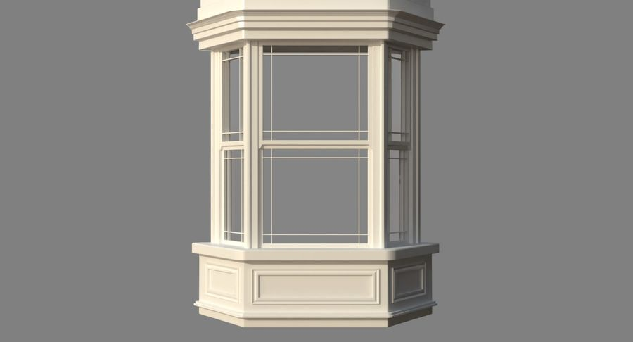 Victorian Bay Window royalty-free 3d model - Preview no. 16