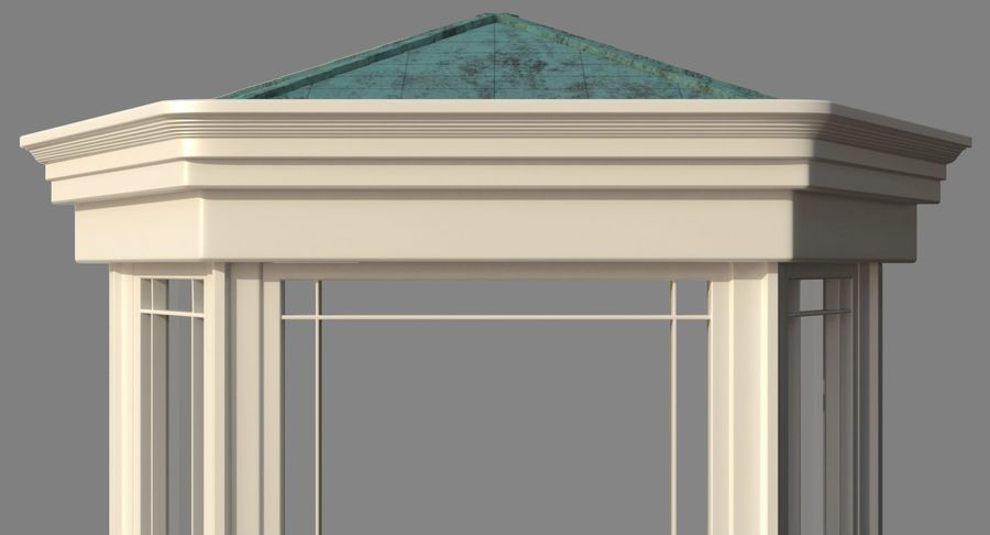 Victorian Bay Window royalty-free 3d model - Preview no. 7