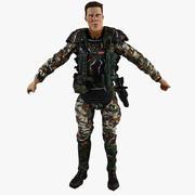 Żołnierz 3d model