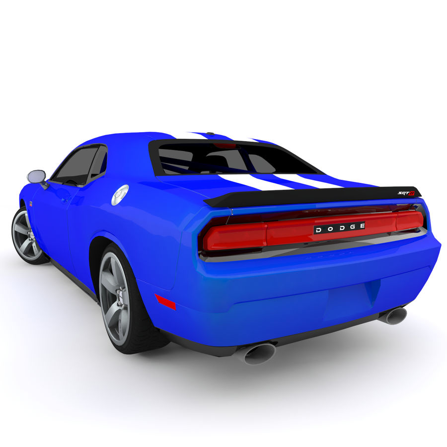 道奇挑战者SRT8 HEMI royalty-free 3d model - Preview no. 6