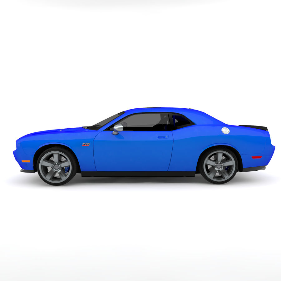 道奇挑战者SRT8 HEMI royalty-free 3d model - Preview no. 3