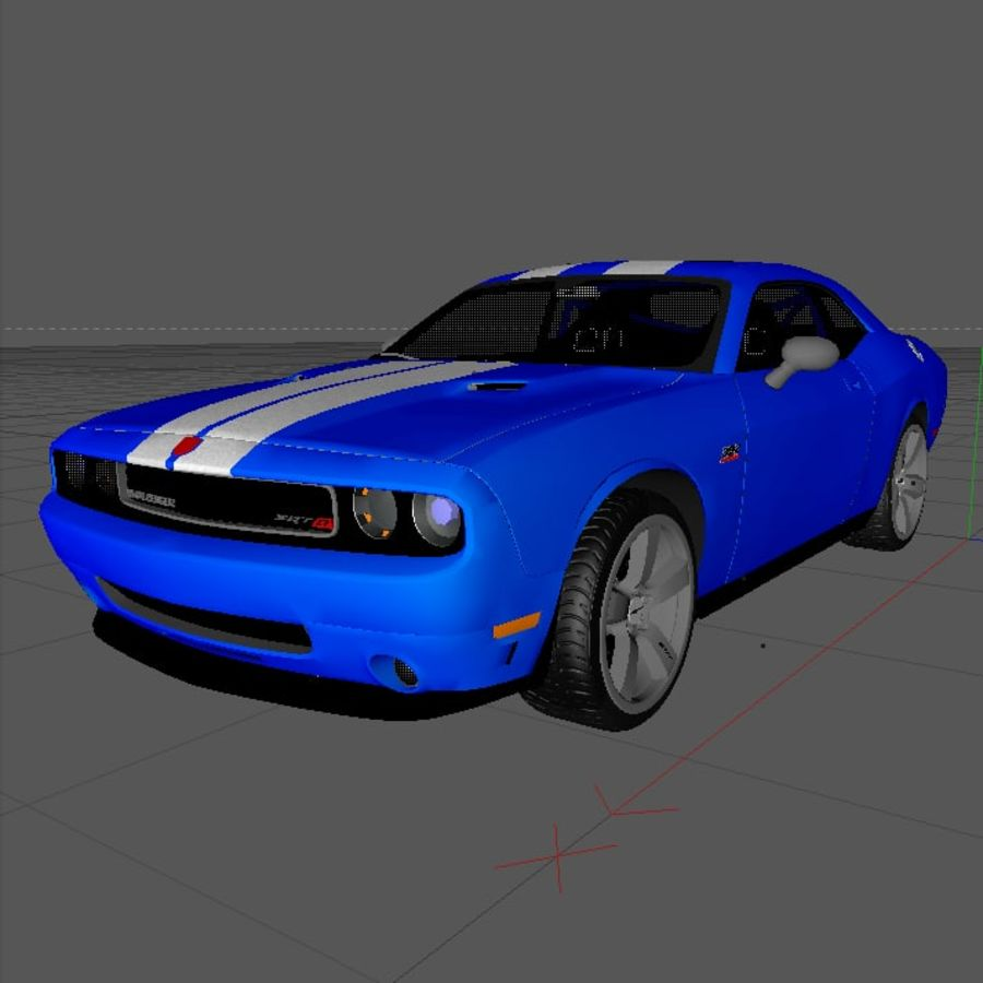 道奇挑战者SRT8 HEMI royalty-free 3d model - Preview no. 8