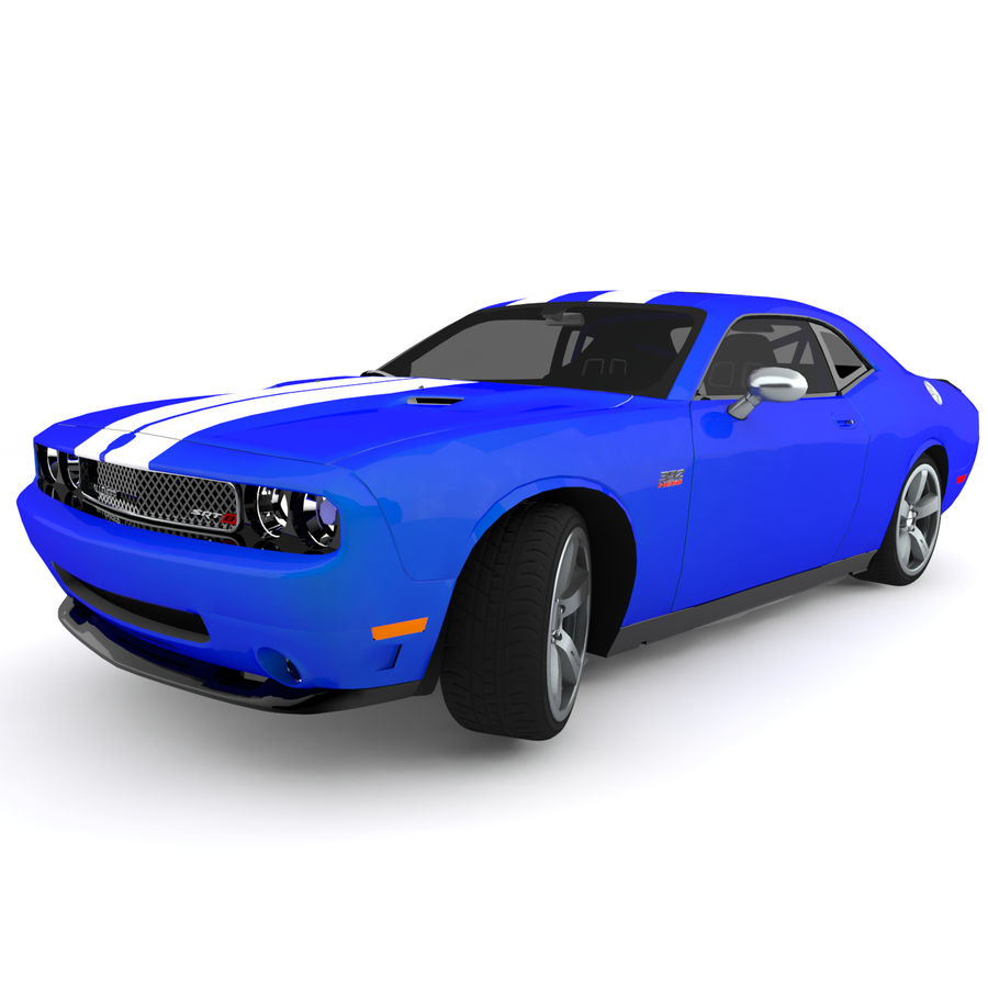 道奇挑战者SRT8 HEMI royalty-free 3d model - Preview no. 7