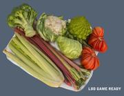 Jeu de légumes prêt 3d model