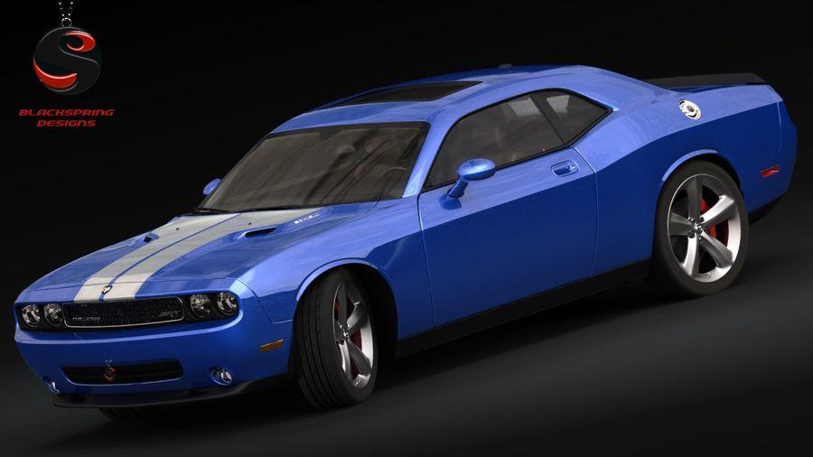 Dodge Challenger SRT8 2009 royalty-free 3d model - Preview no. 1