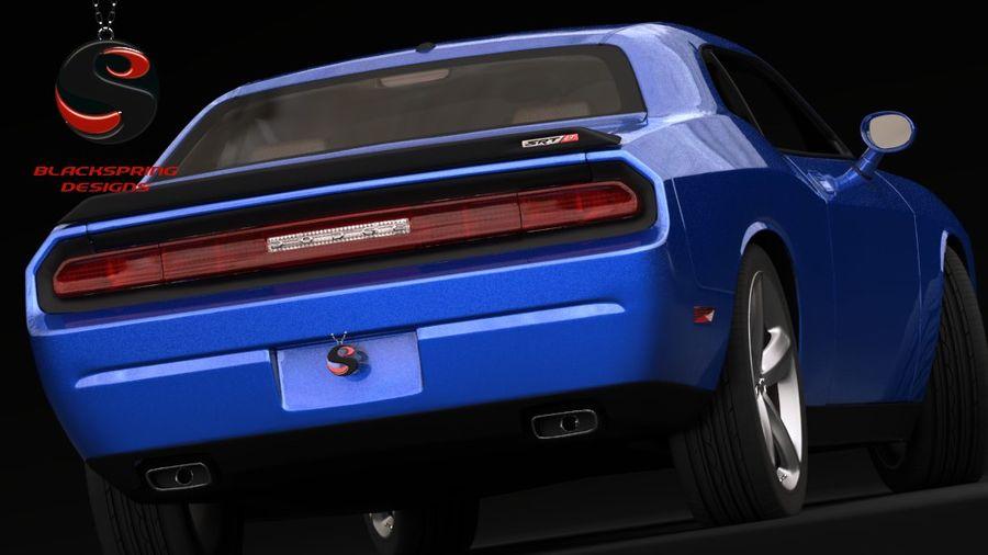 Dodge Challenger SRT8 2009 royalty-free 3d model - Preview no. 4