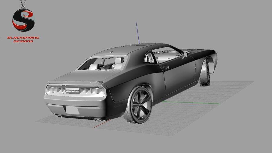 Dodge Challenger SRT8 2009 royalty-free 3d model - Preview no. 9