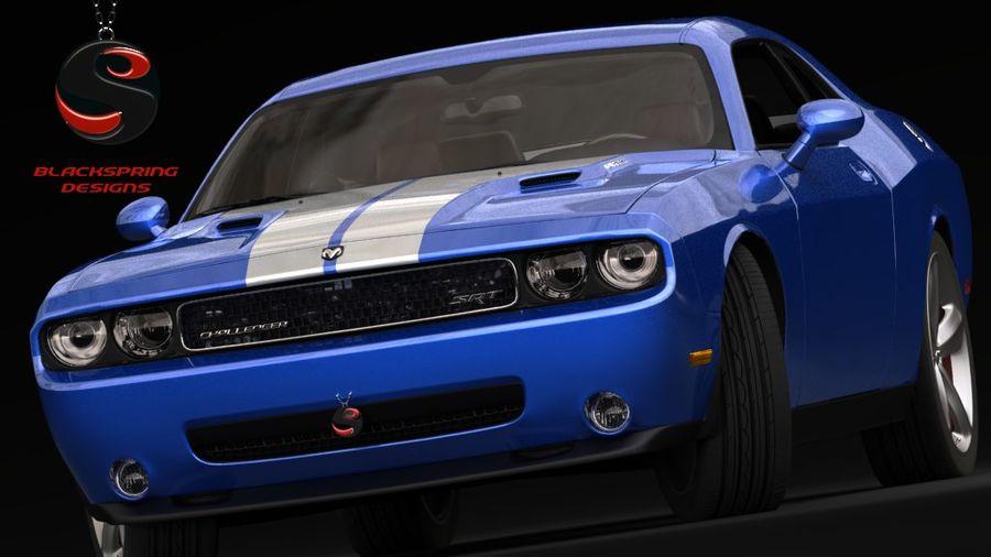 Dodge Challenger SRT8 2009 royalty-free 3d model - Preview no. 2