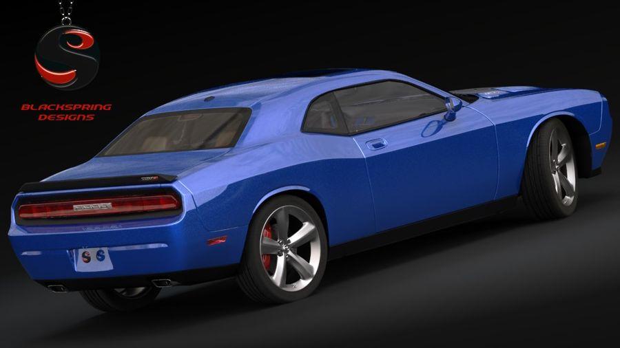 Dodge Challenger SRT8 2009 royalty-free 3d model - Preview no. 3