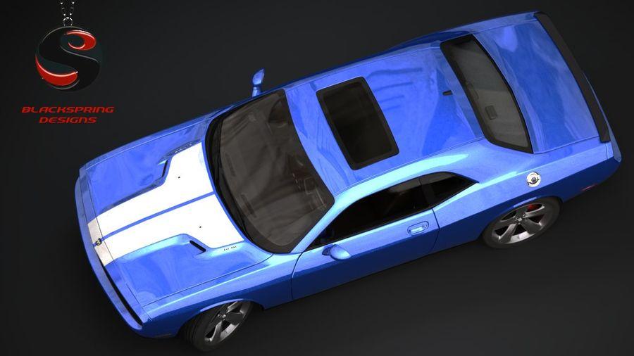 Dodge Challenger SRT8 2009 royalty-free 3d model - Preview no. 5