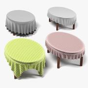 Стол + Одежда Овал 3d model